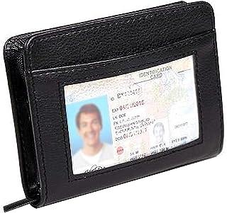 36 Slots Credit Card Holder Wallet Zip Leather Card Case RFID Blocking Huge Storage Capacity