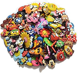 CharmTM Shoe Charms 25 Assorted Characters Animals Flowers and More (Generic) for All Crocs Natives Bracelets and Wristbands