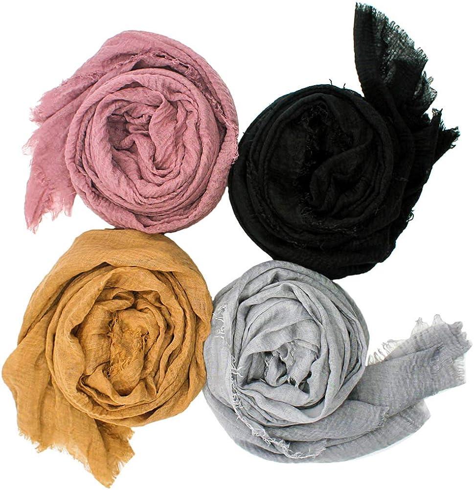 Women Popular popular Soft Cotton Hemp Scarf Women's Hijab In stock Head Long - Scarves W