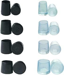 8 Pairs High Heel Protectors, Granmp High Heel Replacement Tips Heel Caps for High Heels Shoe Caps Heel Tips, 4 Size, Black and Transparent