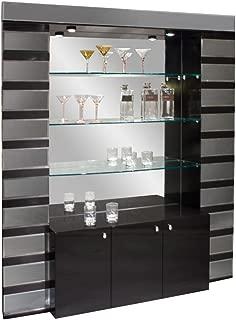 Sharelle Furnishings Mera Black Lacquer Bar Corner Black Lacquer