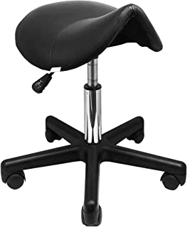 GreenLife® Saddle Deluxe Hydraulic Adjustable Height Rolling Stool Beauty Spa Facial Massage Tattoo