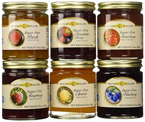 Nature's Hollow Variety 6 Pack Sugar Free Jam