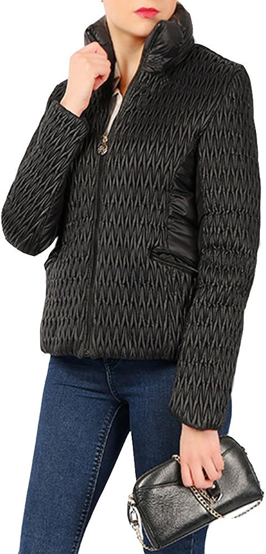 EVEDESIGN Women's Elegant Quilted Slim Jacket Lightweight Packable Zip up Coat with Pocket