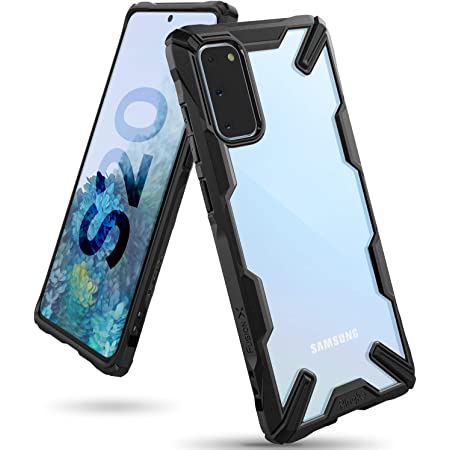 Ringke Fusion-X Compatible with Galaxy S20 Case Only (2020), Clear Back Heavy Duty Shockproof TPU Rugged Bumper Phone Cover - Black