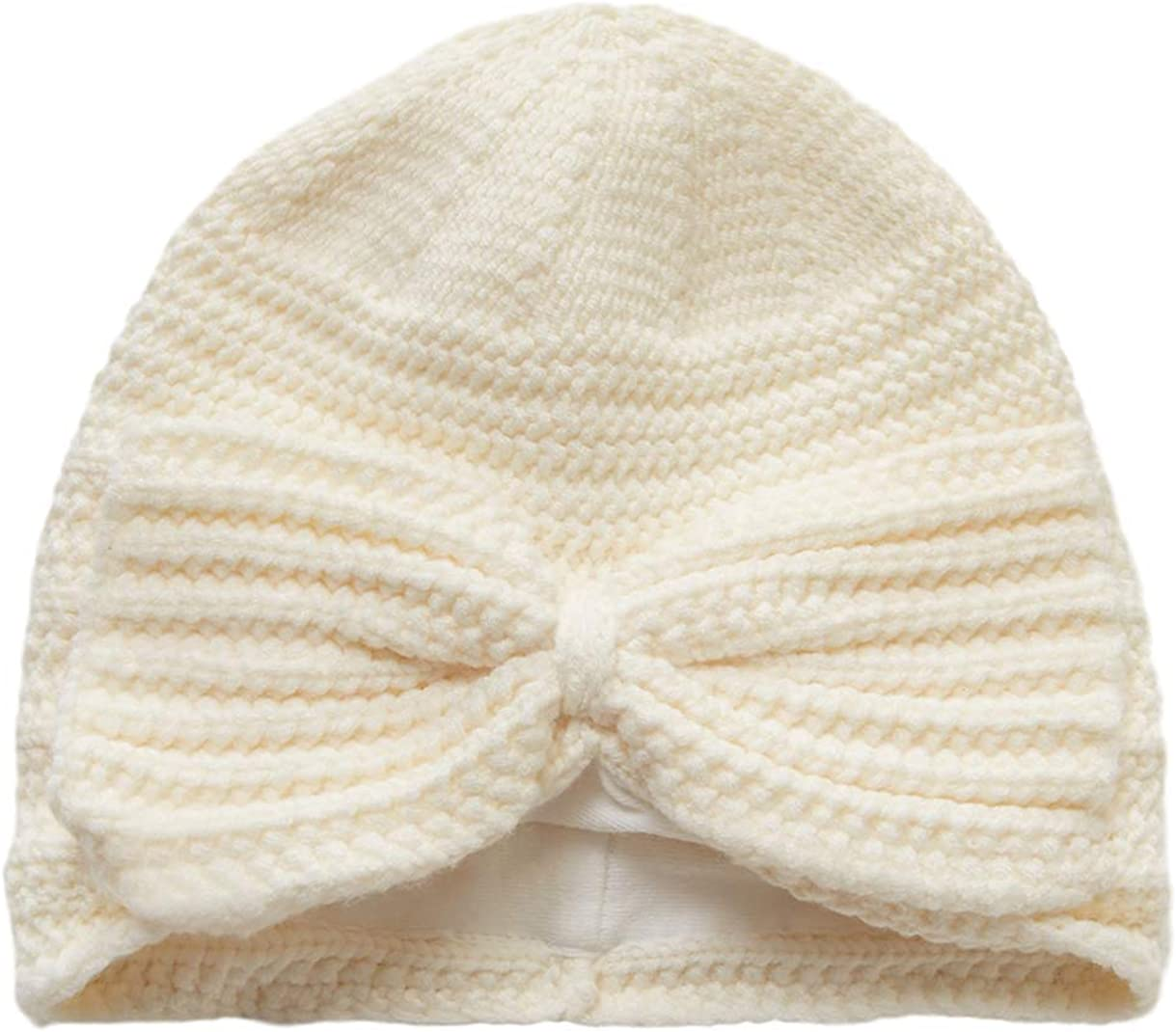 Winter Warm Knitted Baby Hat for Girls Cotton Lined Newborn Infant Girls Hat with Cute Bow Or Rose