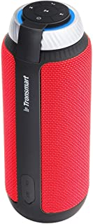Bluetooth Speaker, Tronsmart Element T6 25 Watt Dual-Driver 15 Hours Playtime 360 Degree Surround Sound Portable Wireless Speaker with Deep Bass for iPhone 8 Plus X Android Samsung Note 8 Home Camping Red
