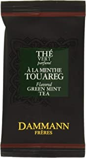 Dammann Freres Sachets, Vert Au Menthe Tea Bags, Premium Gourmet French Mint Green Tea, Individually Wrapped, 24 Count (Si...
