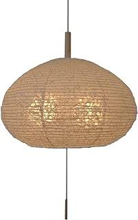 和風照明器具 行燈 麻の落水紙の和紙ではった 伝統工芸 お洒落 和風照明 お椀型 2灯ペンダントライト 麻落水白