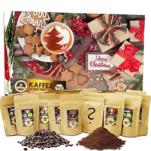 C&T Coffee Advent Calendar Bio/Fair (dosettes de café) 2020 avec 24 cafés biologiques, rares et...