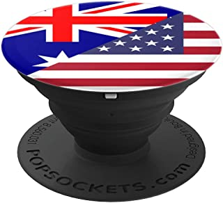Australian American Australia USA Flag Flags - PopSockets Grip and Stand for Phones and Tablets