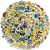 Cartoon Minions Stickers for Kids(50pcs Pack), Waterproof Vinyl Decal for Teen Laptop Skateboard Water Bottle, Cool Stickers for Luggage Travel Case Phone Bike
