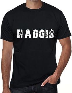 One in the City Haggis Hombre Camiseta Negro Regalo de Cumpleaños 00554