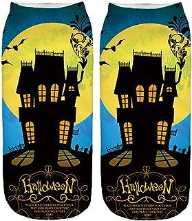 Funny Ankle Socks, Toamen Men Women Unisex 3D Halloween Printed Gift Sports Casual Socks