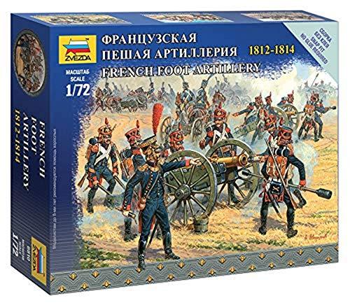 Zvezda 500786810-1 500786810 – 1:72 French Foot Artillery Plastique – Kit de Construction – pour débutants – Détails, 6810, Non laqué