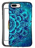 ZUSLAB iPhone 8 Plus/iPhone 7 Plus Case, Pattern Design, Shockproof Armor Bumper, Heavy Duty Protective Cover for Apple iPhone 8 Plus/iPhone 7 Plus (Blue Mandala)