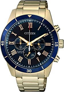 CITIZEN Mens Quartz Watch, Chronograph Display and Stainless Steel Strap - AN8169-58L