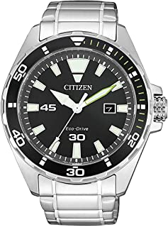 Citizen Mens Solar Powered Watch, Analog Display and Stainless Steel Strap BM7451-89E