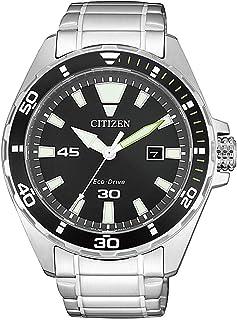 ساعة كاجوال بعرض انالوج وسوار من الستانلس ستيل للرجال من سيتيزن - BM7451-89E