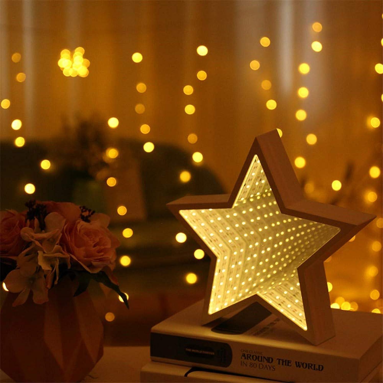 RTFC Night Light 3D Stars Cute Night Light Led Decor Lamp Mirror for Kids Baby Good Gift Decoration