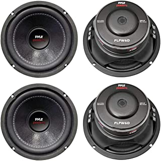 """PYLE PLPW6D 6"""" 2400W Car Audio Subwoofers Subs Woofers DVC Stereo 4-Ohm"""