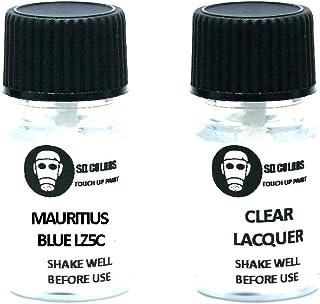 SD COLORS Mauritius Blue LZ5C Lackreparaturfarbe, 5 ml, mit Pinsel, Farbcode LZ5C (Farbe + Lack)