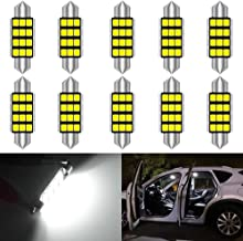 KATUR 1.72 '' 42mm 211 212 211-2 LED Super Brillante 5630 Chipsets CanBus de Aluminio Festoon sin Errores Mapa de la Puerta Interior del automóvil Luces de Techo Xenón Blanco 12V Paquete de 10