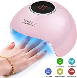 Nail Lamp for Gel Polish,36W 15 LED Professional Nail Dryer UV LED Nail Lamp with 3 Timer Setting,Professional Nail Art Tools With Automatic Sensor, LCD Display, Memory and Pause Timer Function