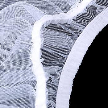 Yinew Filet de protection pour cage à oiseaux en maille filet Blanc Taille M