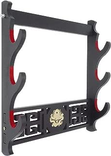 Eforlife Dragon Sword Holder Wall Mount Velvet Padded Katana Stand Samurai Sword Holder Display Rack