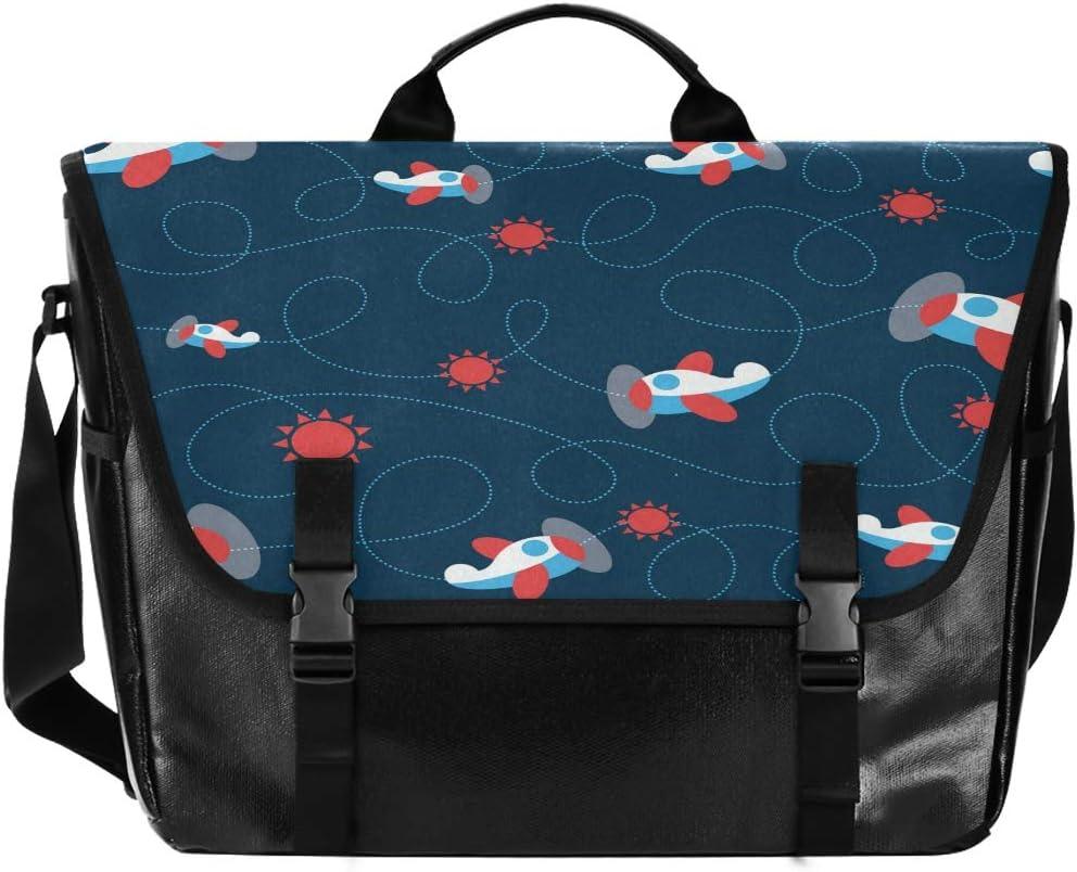 Blue National products Plane Sun Cartoon Large High quality Flapover Bag Casua Messenger Unisex