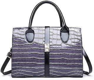 Bags Shoulder Bag Messenger Bag Handbag Patent Leather Handbag Purses Shoulder Bags for Women (Color : Purple)