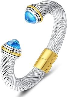 UNY Cuff Antique Wire Charms Women Vintage Trendy Fashion Designer Inspired Unique Bracelets Bangles