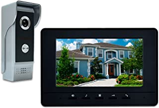 AMOCAM Wired Video Intercom System, 7 Inches Video Doorbell Door Phone System, Wired..