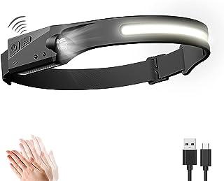 Linterna Frontal LED USB Recargable, Linterna Cabeza Muy Brillante, 5 Modos de Luz , IPX4 Impermeable, Mini Frontal LED pa...