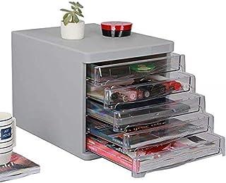Rangement de dossiers Fichier plat Armoires à tiroirs mobiles multi-fonctions Cabinet 5 tiroirs Couleur: Noir, Gris Bureau...
