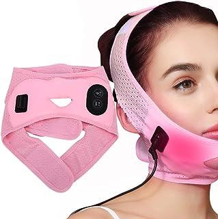 Facial Lifting Afslankband, elektrische vibratie Warm kompres Gezichtsverstrakking Liftriem Gezichtsvormend Afslankverband...