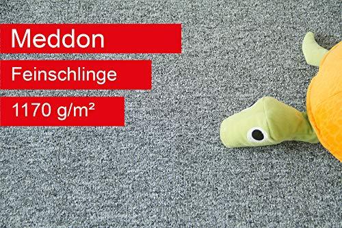 Steffensmeier Teppichboden Meddon Meterware | Auslegware für Kinderzimmer Wohnzimmer Schlafzimmer | Grau, Größe: 400x350 cm