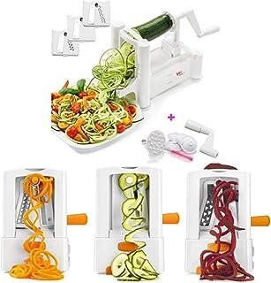 Trancheuse Mandoline coupe-légumes Veggie Dicer Ménage Multifonction 3 En 1 Main-coudés Légumes Rotary Cutter Pliable Spir...