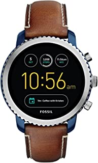 Fossil Q Explorist Brown Stainless Steel & Leather Smartwatch FTW4004
