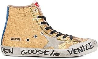 Luxury Fashion Womens HI TOP Sneakers Winter Gold