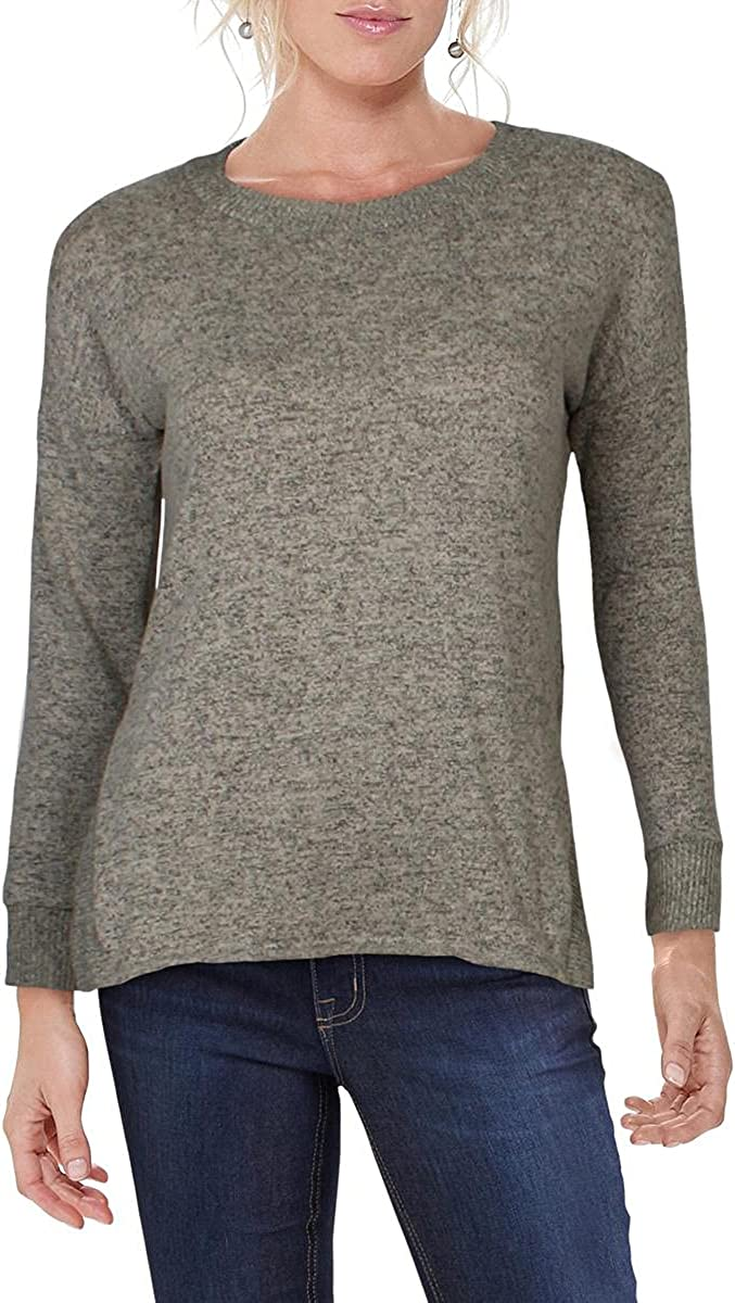 A. Byer Women's Fuzzy Knit High-Low Pullover Sweater