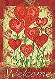 Toland Home Garden Garden Hearts 12.5 x 18 Inch Decorative Love Valentine Day Welcome Garden Flag