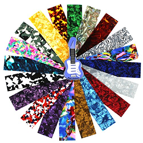 Pick-a-Palooza Guitar Pick Pack Custom Strips For Your Guitar Pick Maker - Great Variety Of Strips For Making Guitar Picks With Any Pick Punch - Celluloid