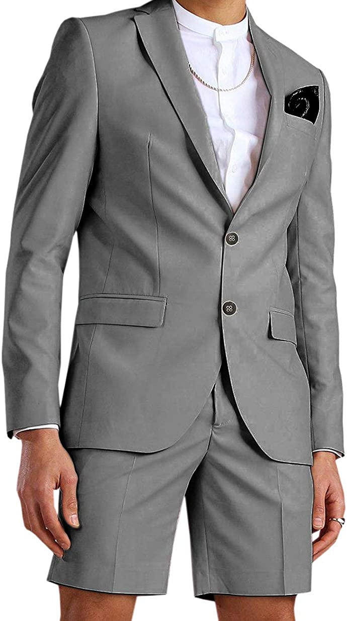 Zeattall Summer Beach Men Suits for Fit Super beauty product restock quality top 2 No Slim Pieces Wedding Financial sales sale
