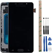 HYYT Replacement For Samsung Galaxy A5 (2016) A510F A510 A510M LCD Digitizer Screen and Touch Screen Assembly With Frame And Tools (Black)