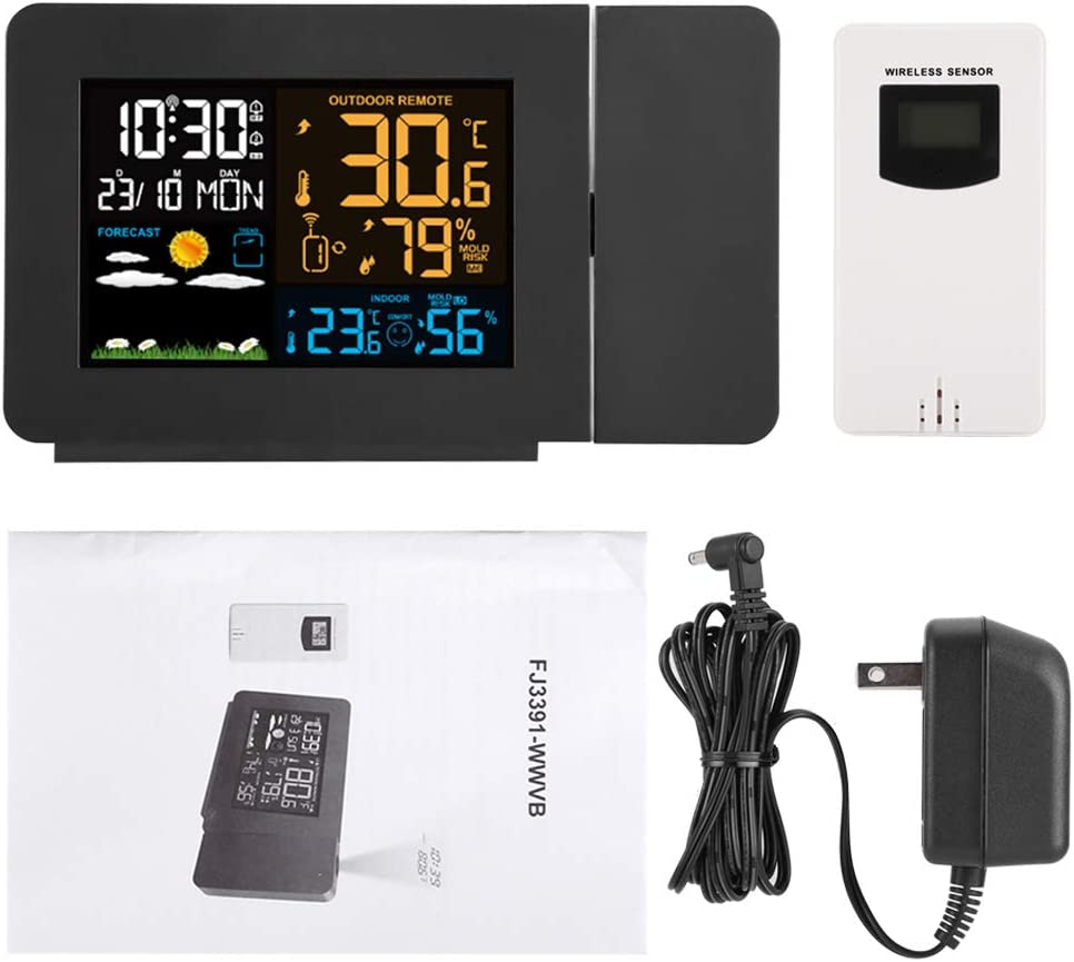 Projection Alarm Clock Weather Max 89% Fresno Mall OFF Alar Double Temperature Forecast