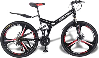 OYMA Power 26 in 21-Speed Shimanos Full Suspension MTB Bikes Folding Mountain Bike