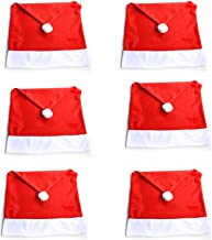 StaiBC Chair Back Cover Christmas Dinner Table Party Décor, Red, Pack Of 6