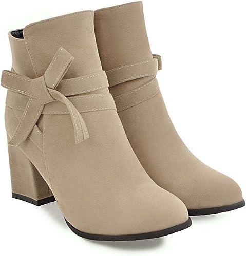 QIN&X Chaussures femmes talon haut Bloc Bottillons courts plate-forme chaussures grande Taille